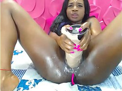 African Girl, Girl Fuck Orgasm, black, Ebony Squirting, Huge Toy in Pussy, Orgasm, Whores, Squirt, Giant Dildo, Long Dildo Orgasm, Perfect Body Milf, Sperm