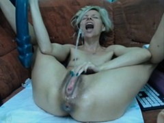 Riding Vibrator, squirting
