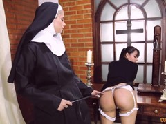 Fetish, lesbians, Nun and Priest, Perfect Body Teen