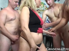 Banging, gang Bang, Gilf Blowjob, gilf