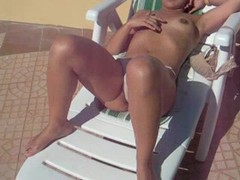 Chubby Girls, Hot Wife, Perfect Body Masturbation, clits, Stroking, Sunbathing, Milf Housewife