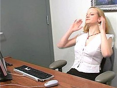blondes, Amateur Dildo Orgasm, fuck, Masturbation Squirt, Masturbation Solo Dildo, Office Secretary, softcore, vibrator, Vibrator on Clit Orgasm, Solo Babe, Teen Stockings Creampie