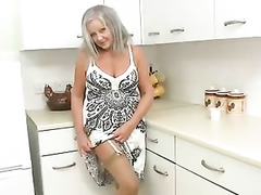 British Babes Fuck, Horny Granny, Grandma Boy, Milf in Kitchen, Watching Wife, Masturbating While Watching Porn, English, Amateur Milf Perfect Body, UK